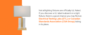 a lamp with a ECL listing